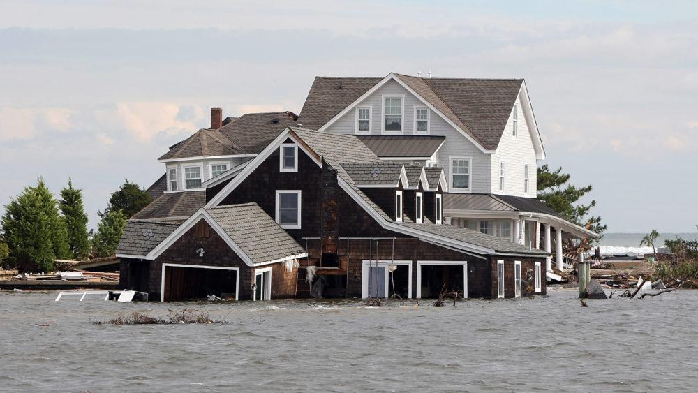 photo of flooded barnegat bayfront home