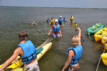 Kayak tours of Barnegat Bay.