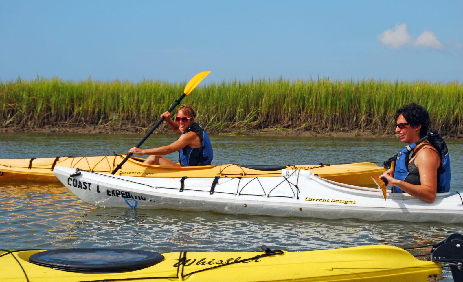 photo of paddlers in kayaks